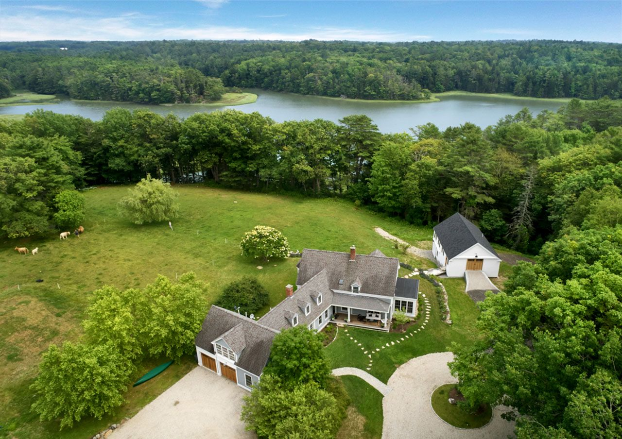 Single Family Home for Sale at Saltwater Farm on the Harraseeket River 27 Bartol Island Freeport, Maine,04032 United States